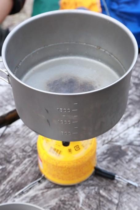 お湯を沸かす!