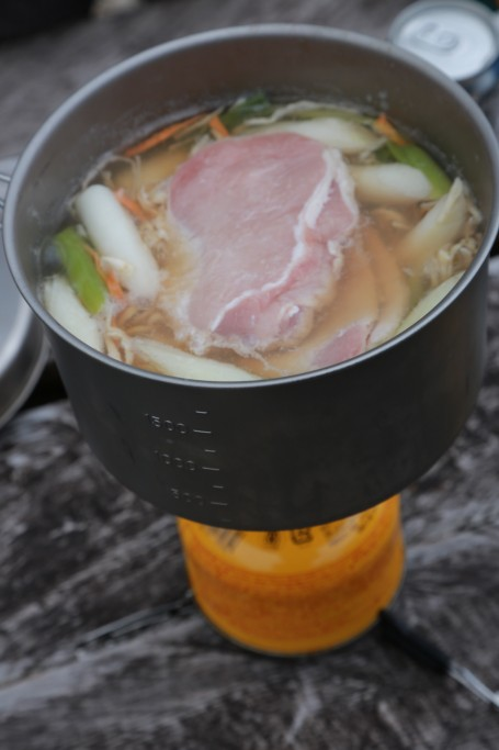 芋煮の調理2