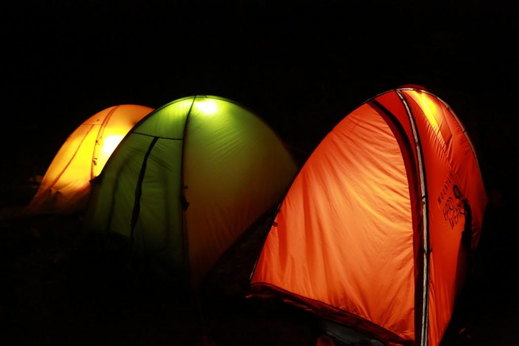 聖平小屋テント場の夜2