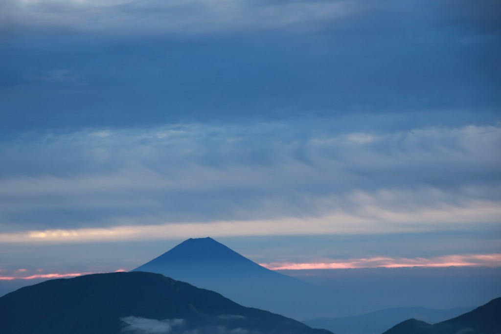 小聖岳から富士山3