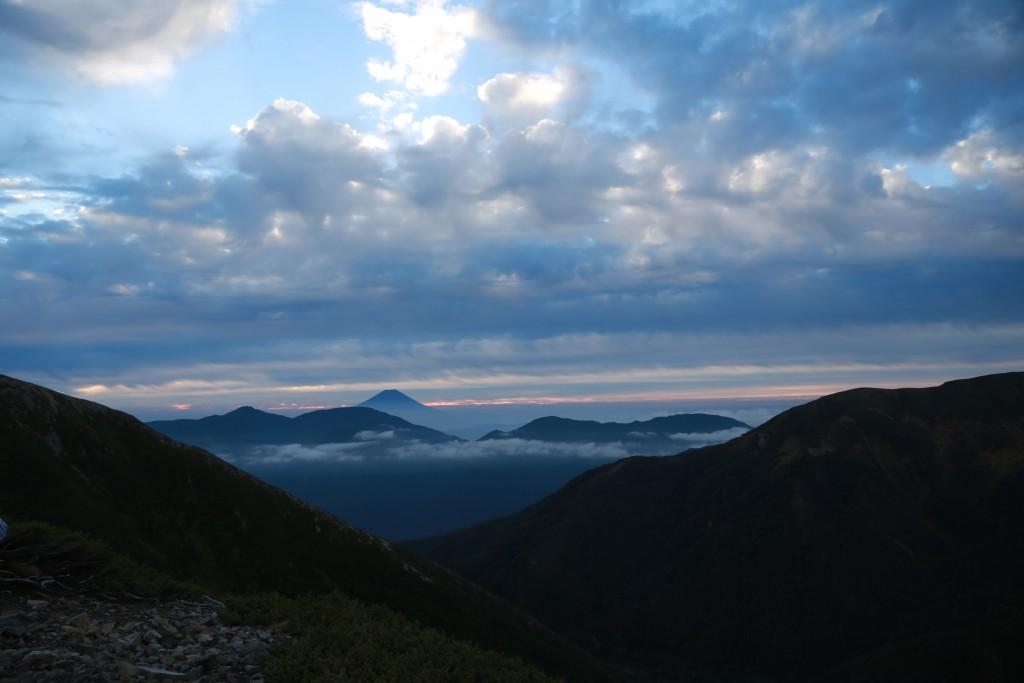 小聖岳からの富士山1