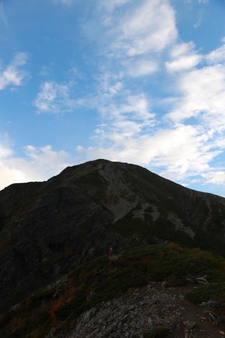 聖岳への最後の登り