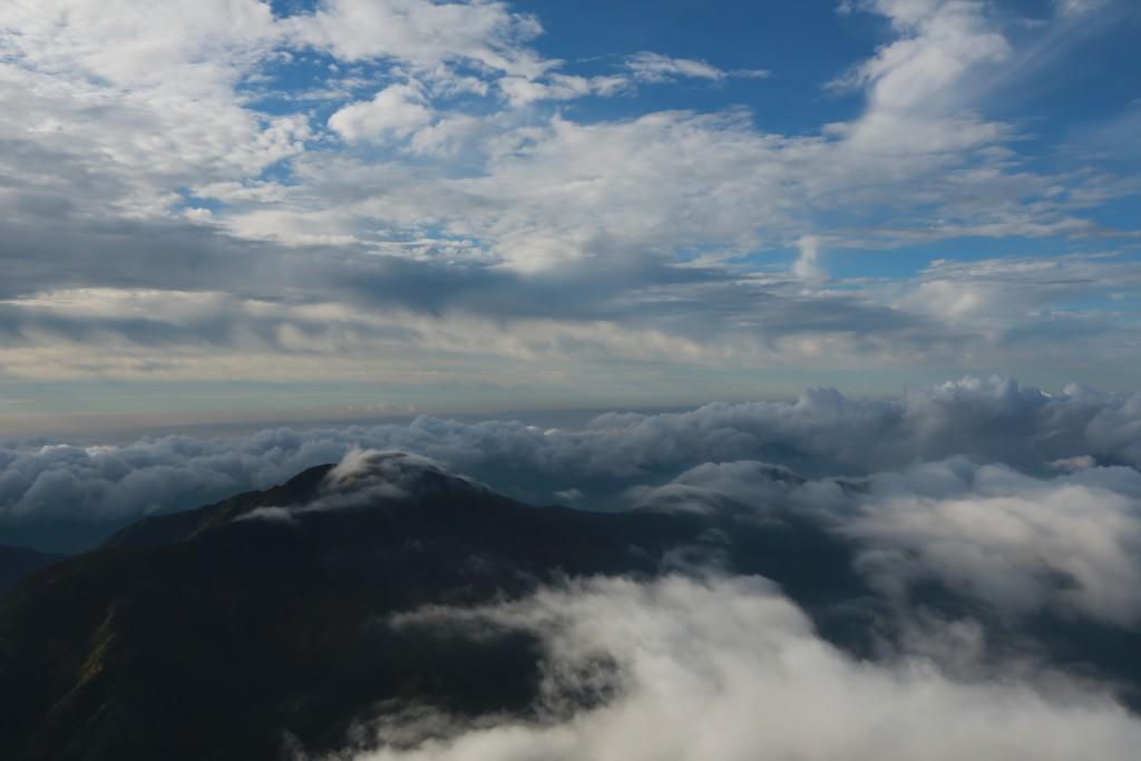 聖岳からの雲海