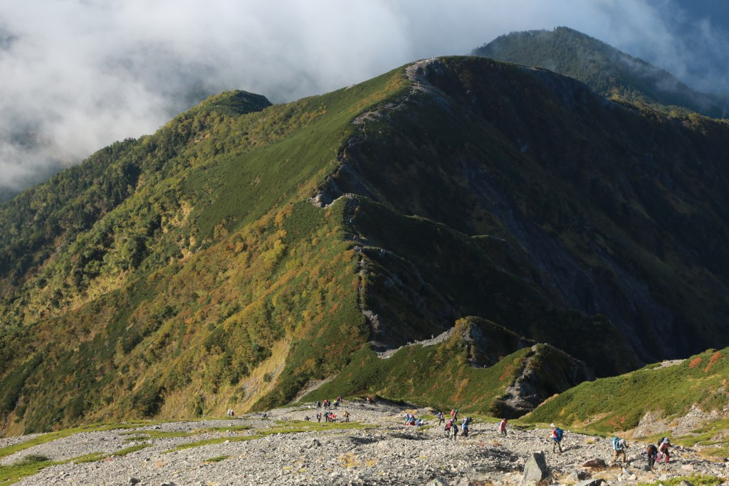 聖岳〜小聖岳 下山