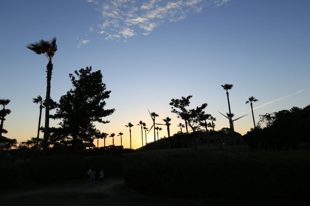 竜洋海洋公園の夕暮れ1