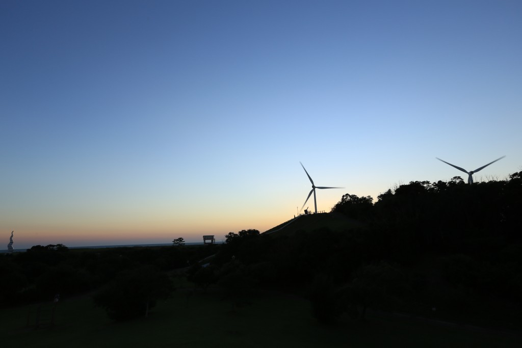 竜洋海洋公園の夕暮れ3
