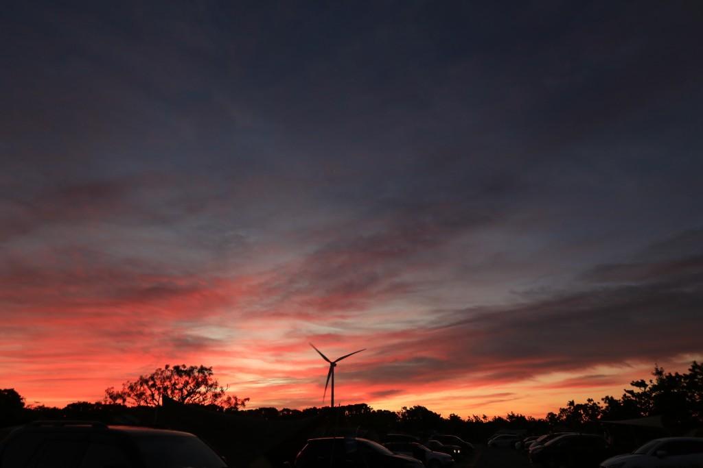 竜洋海洋公園オートキャンプ場の日の出2