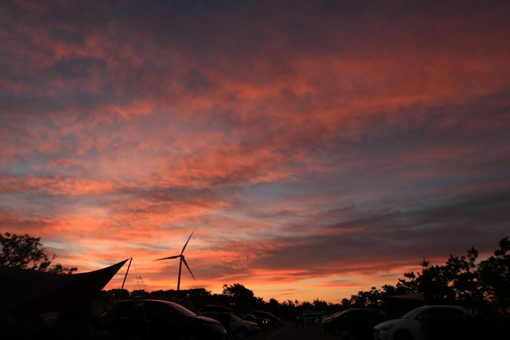 竜洋海洋公園の朝焼け