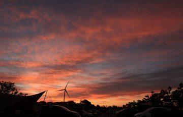竜洋海洋公園オートキャンプ場の日の出4