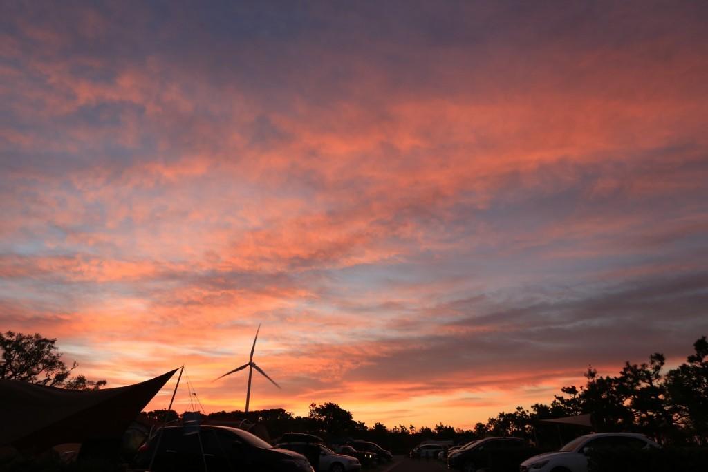 竜洋海洋公園オートキャンプ場の日の出5