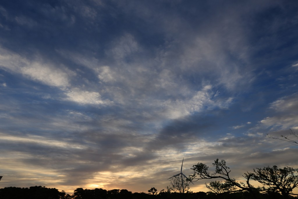 竜洋海洋公園オートキャンプ場の日の出6