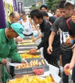 いびがわマラソン 食べ物ステーション