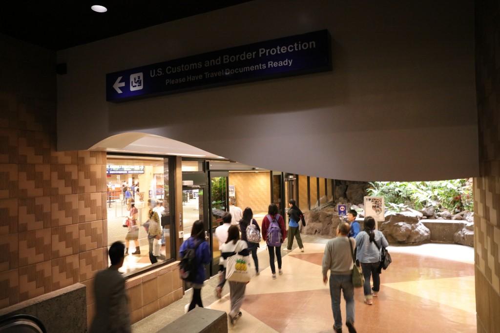 ホノルル国際空港 入国審査入口