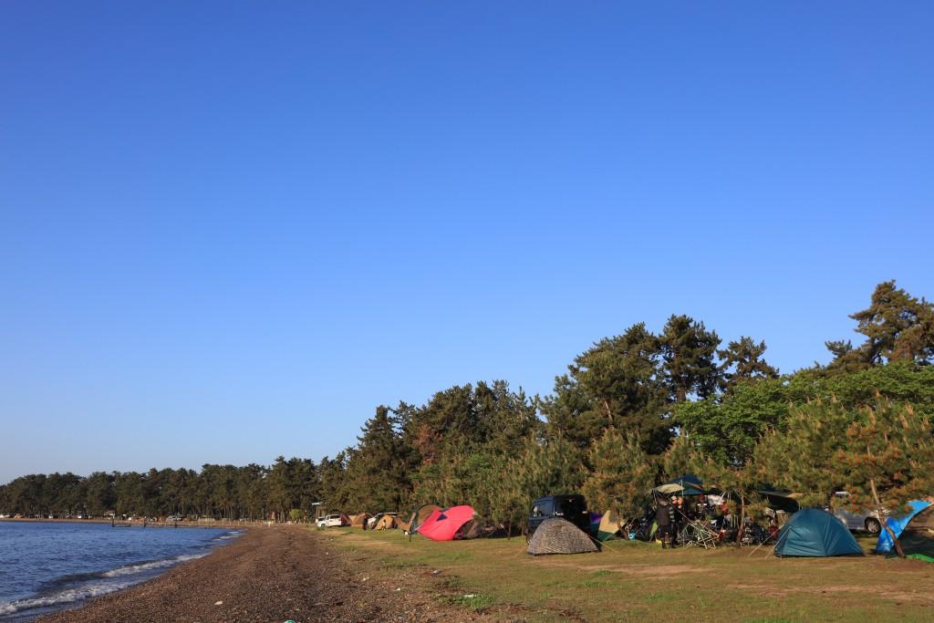 マキノサニービーチ高木浜オートキャンプ場 風景