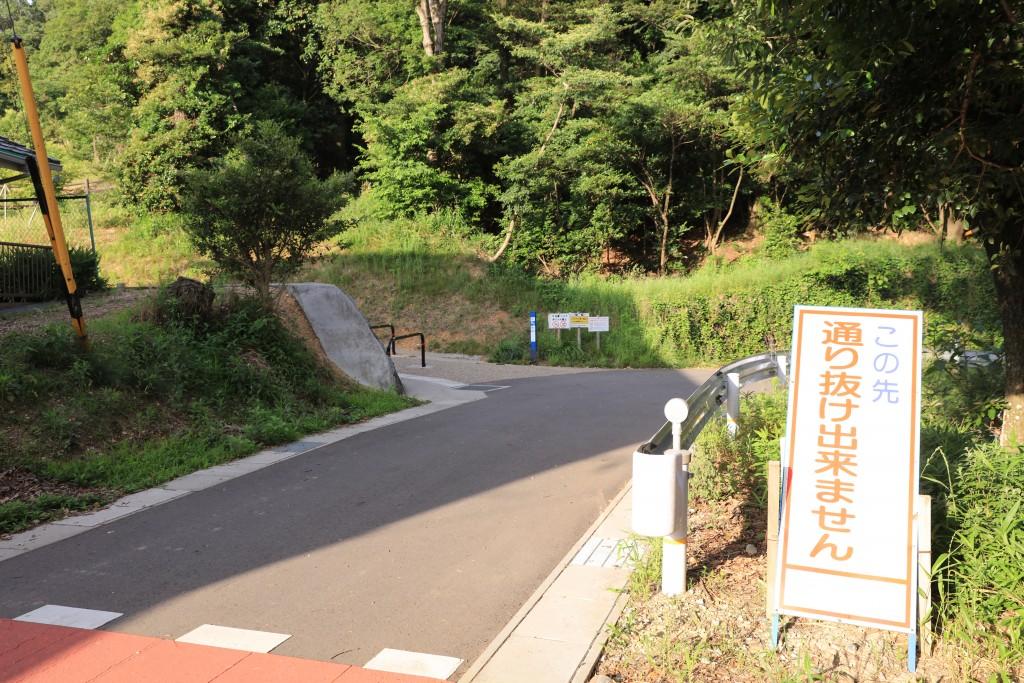 0.4km地点 散策の森入口