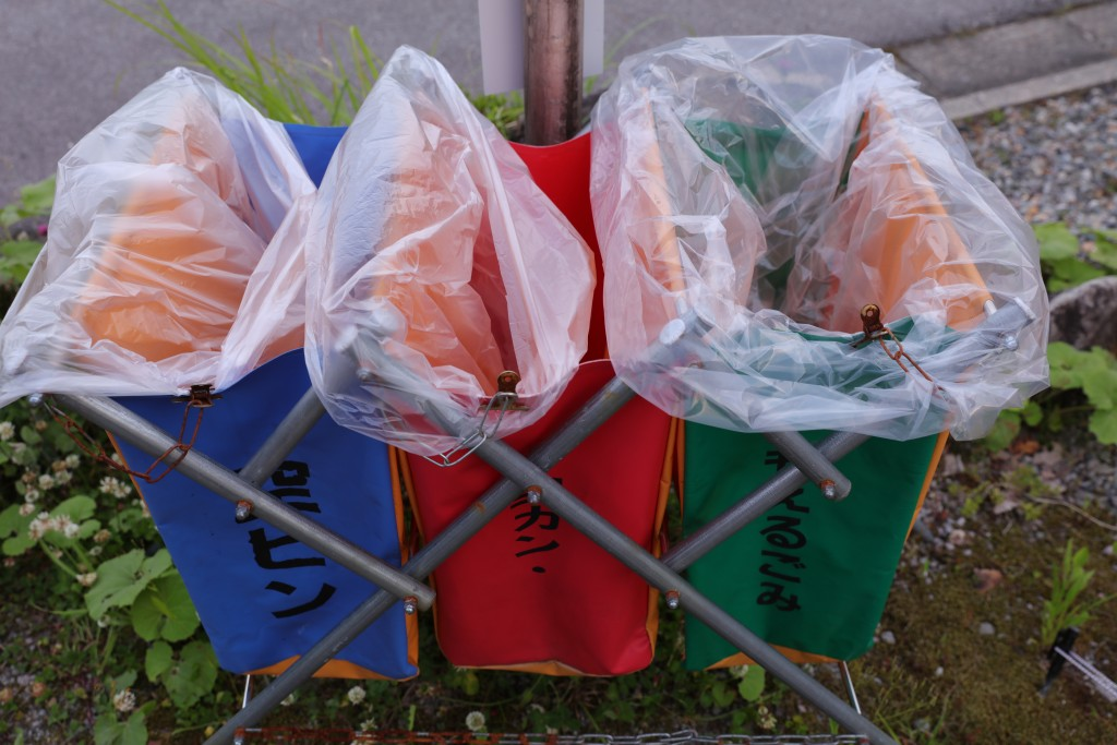 ひだ流葉オートキャンプ場 ゴミ箱+ビニール袋