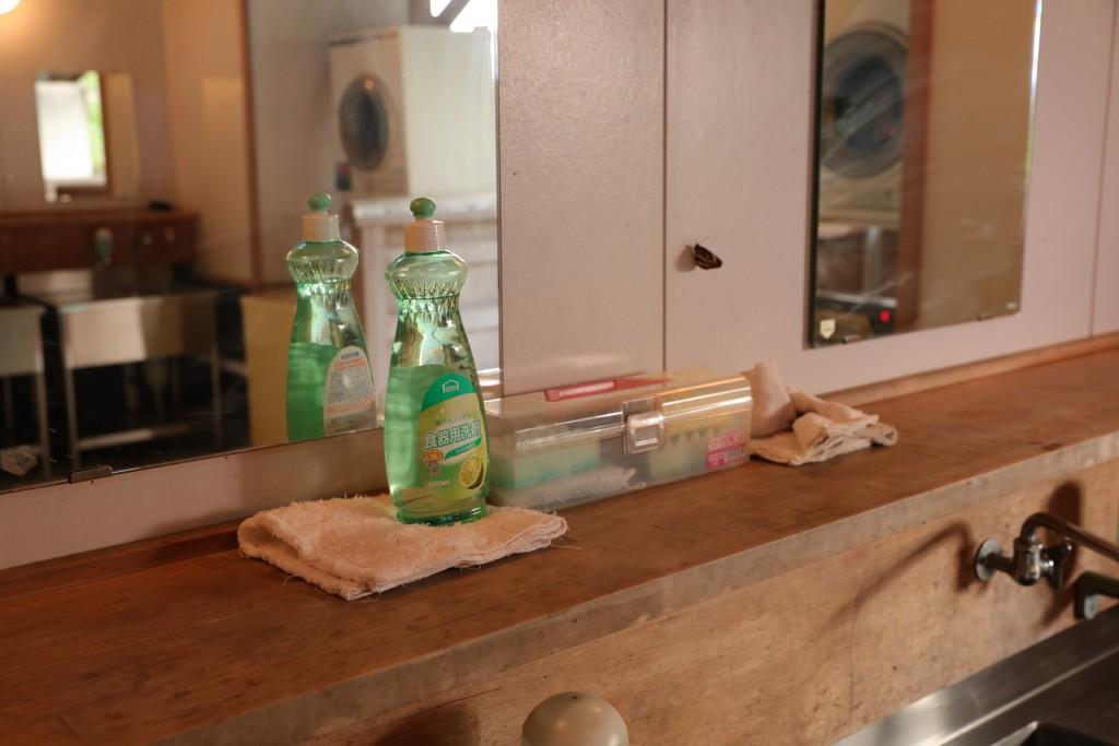 ひだ流葉オートキャンプ場 炊事場 洗剤