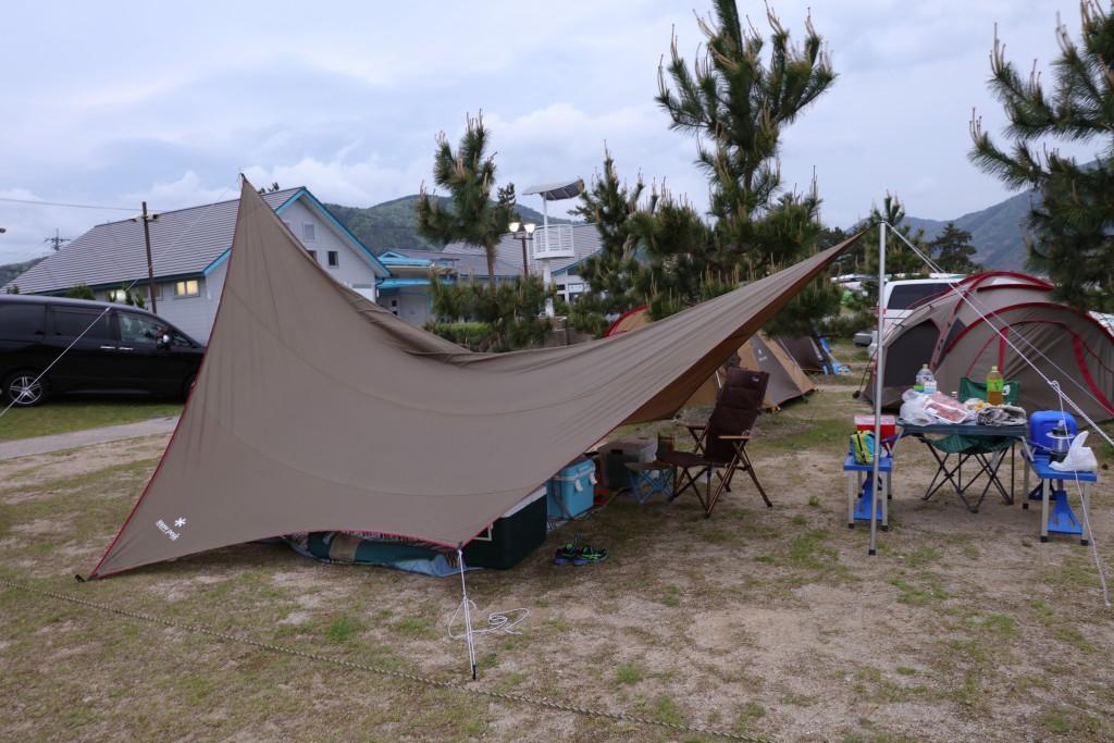 高木浜オートキャンプ場 ファミリーサイト 設営後
