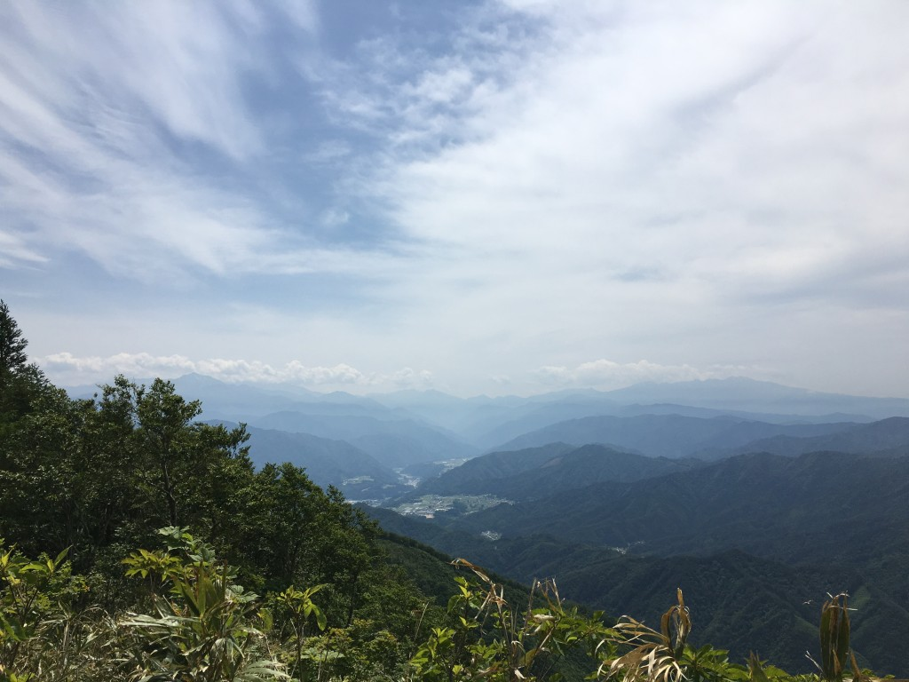 奥飛騨トレイルラン 流葉山山頂からの眺め