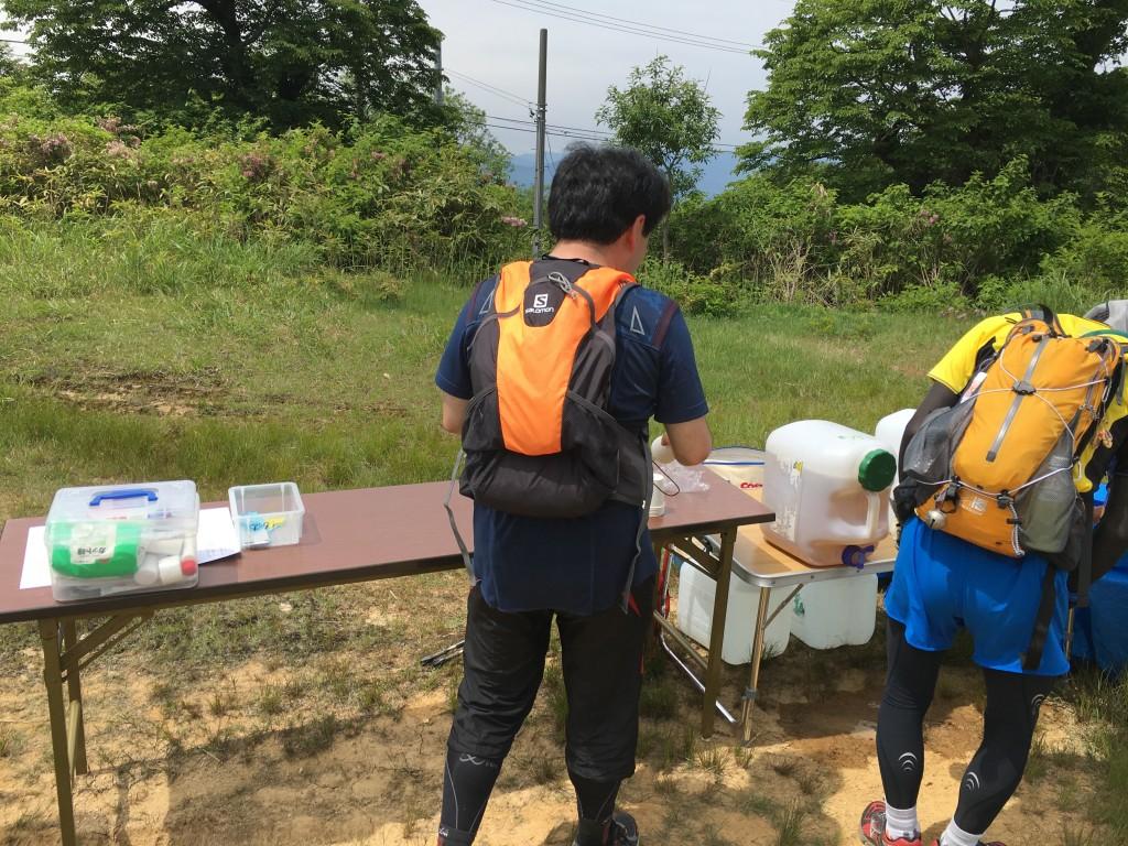 奥飛騨トレイルラン エイドステーション1.5
