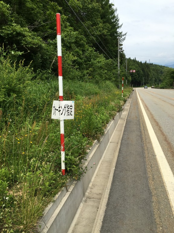 奥飛騨トレイルラン 国道41号線2