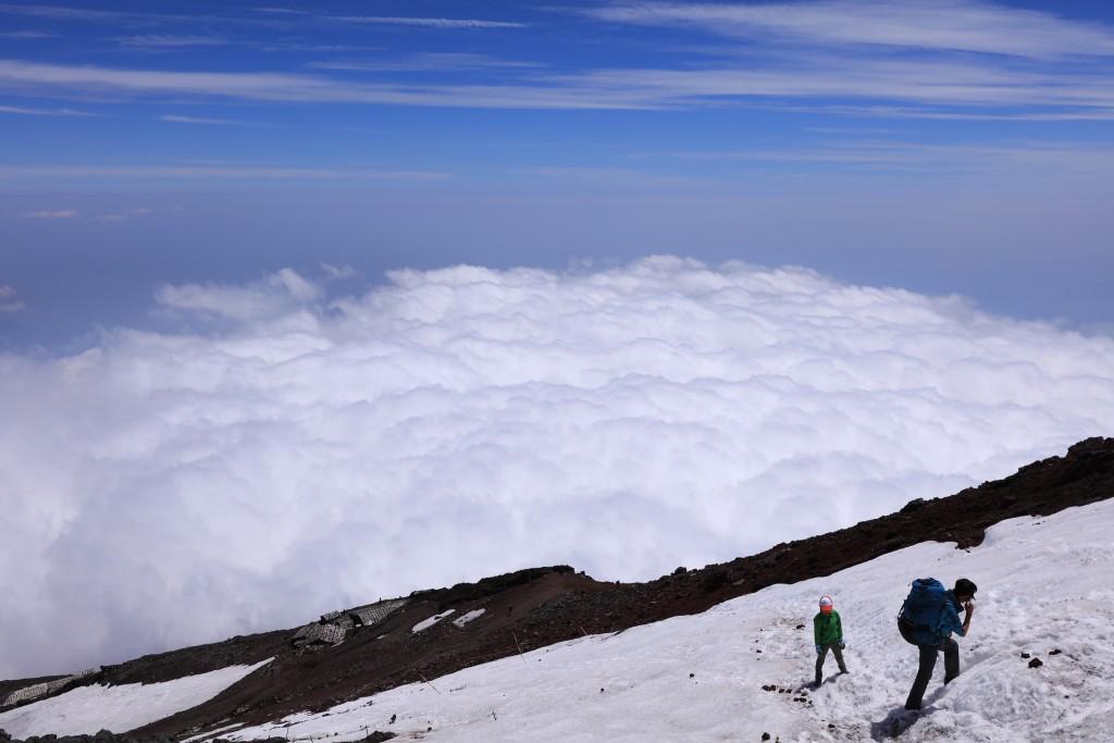 富士宮ルート 山頂直下