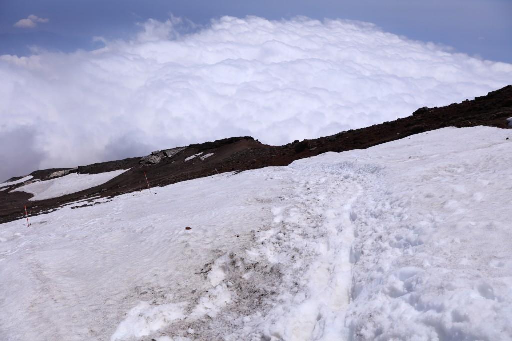 富士宮ルート 山頂〜9.5合目1
