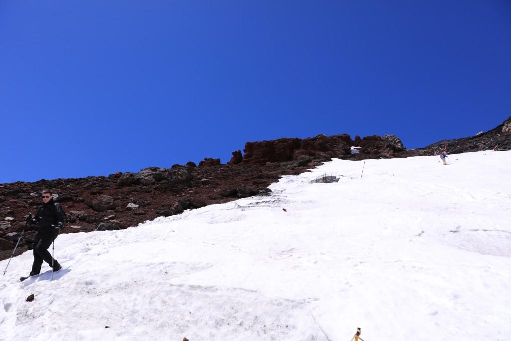 富士宮ルート 山頂〜9.5合目1富士宮ルート 山頂〜9.5合目2