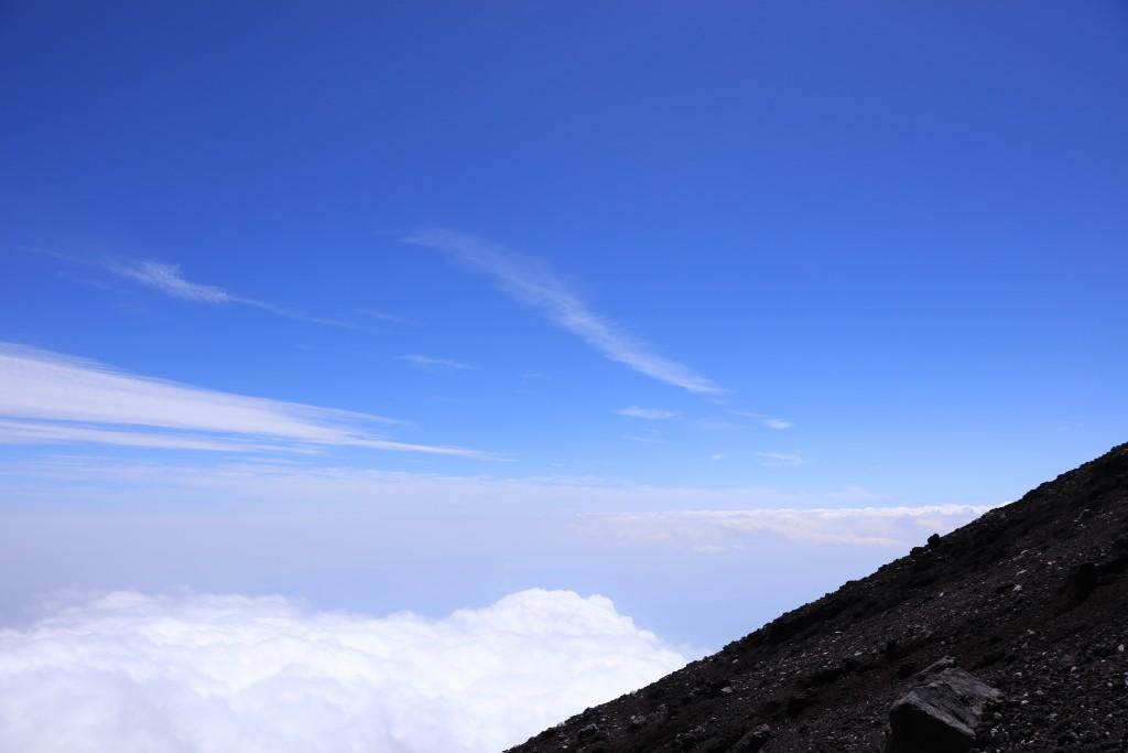 富士宮ルート 九合目からの景色2