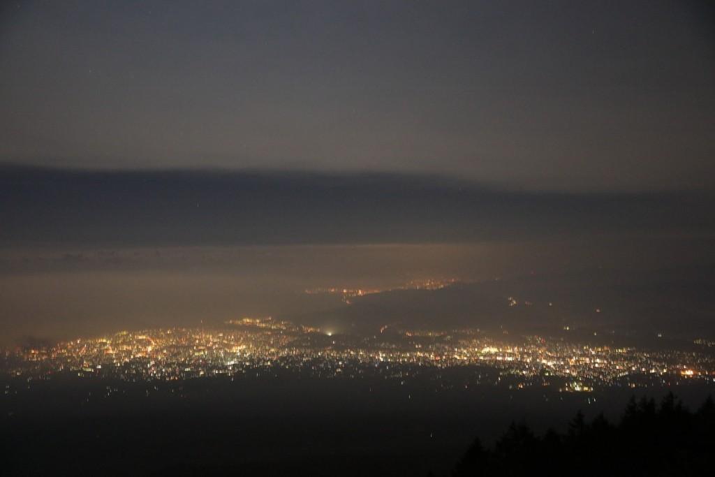 富士宮口五合目からの夜景