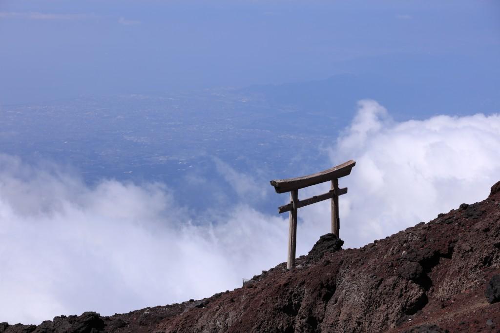 富士宮ルート 八合目〜九合目 鳥居