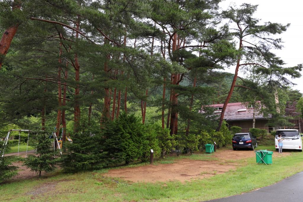 奥飛騨温泉郷オートキャンプ場 テント設営前