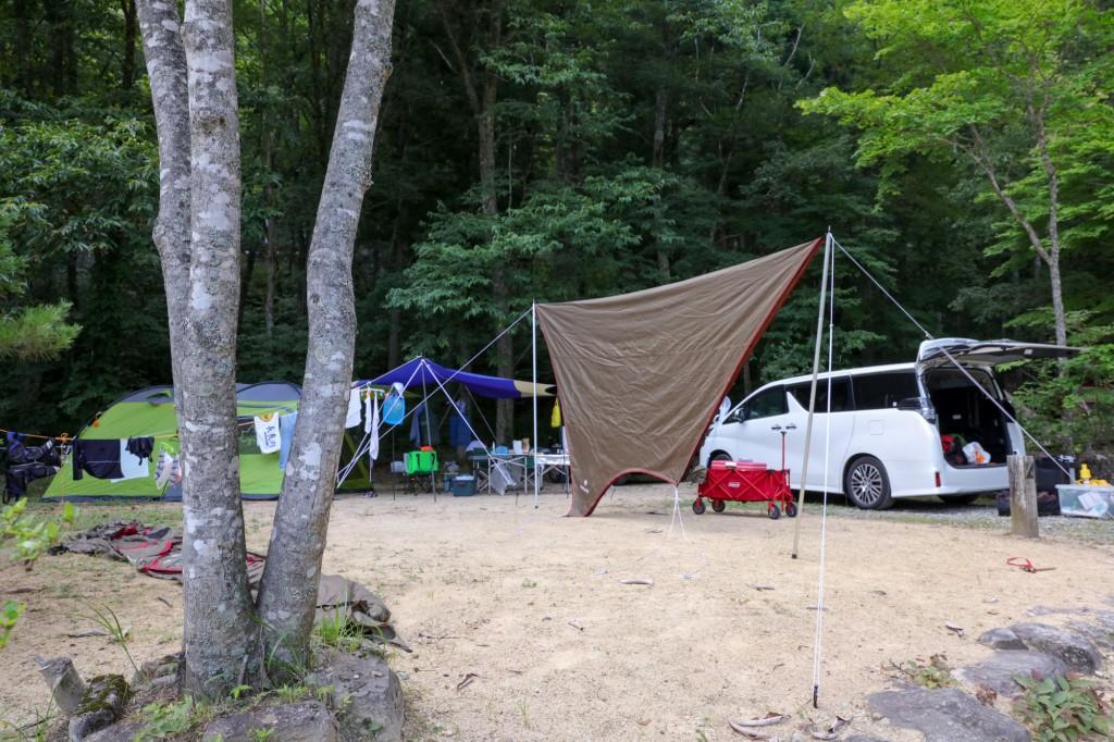 カオレオートキャンプ場 テント設営前
