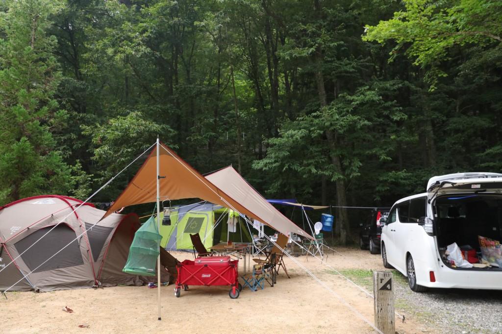 カオレオートキャンプ場 テント設営後