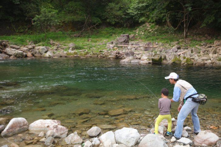馬瀬川で渓流釣り