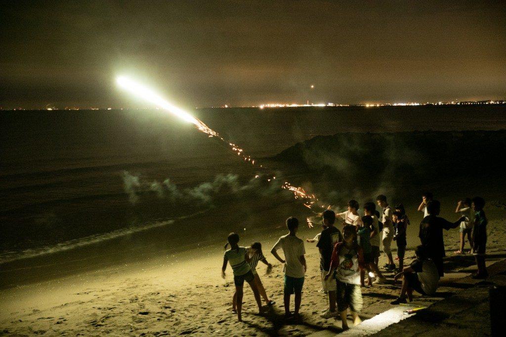 キャノン砲の花火