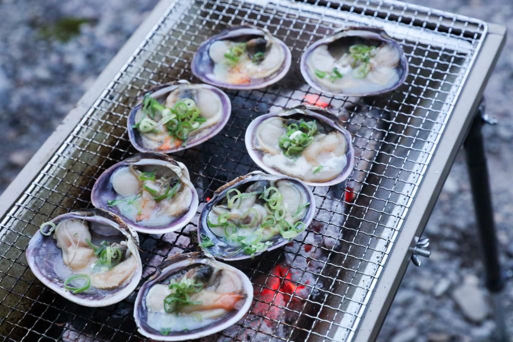 板取キャンプ場 海鮮BBQ