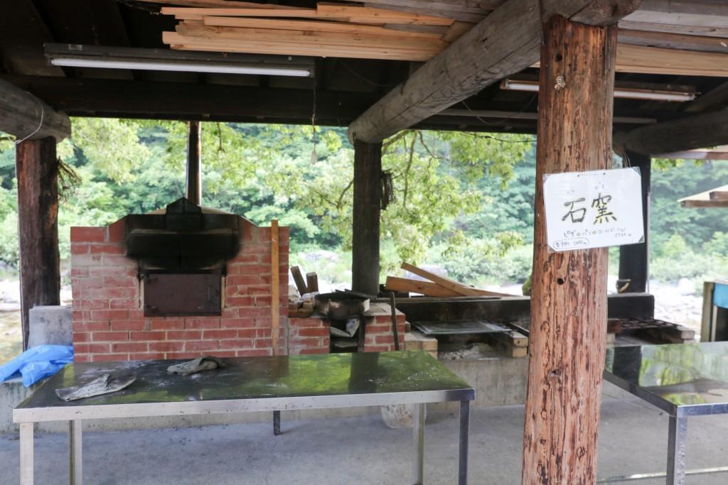 板取キャンプ場 石窯