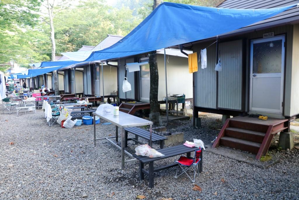 板取キャンプ場 バンガロー2