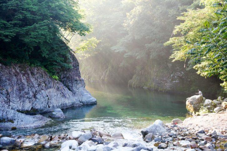 板取キャンプ場からの板取川