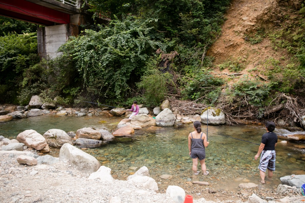 板取キャンプ場 渓流釣り