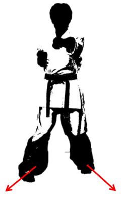 内ハの字立ち(間違った体重移動)