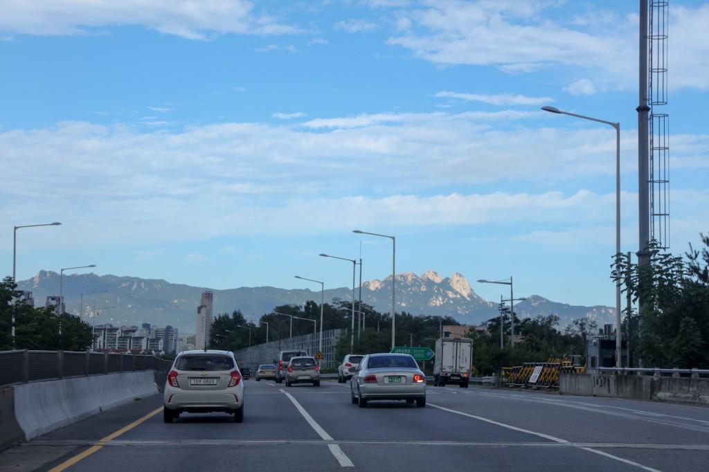 北漢山が見えてきた!