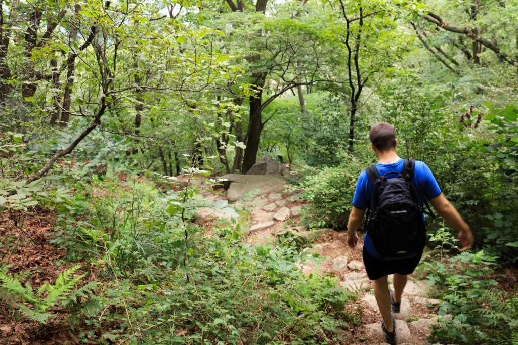 北漢山 登山道を下る