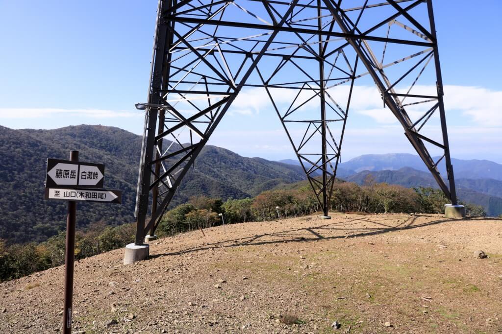 藤原岳 頭陀ヶ平の鉄塔3
