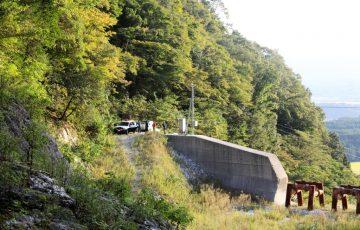 藤原岳 最後のダム付近に警察到着