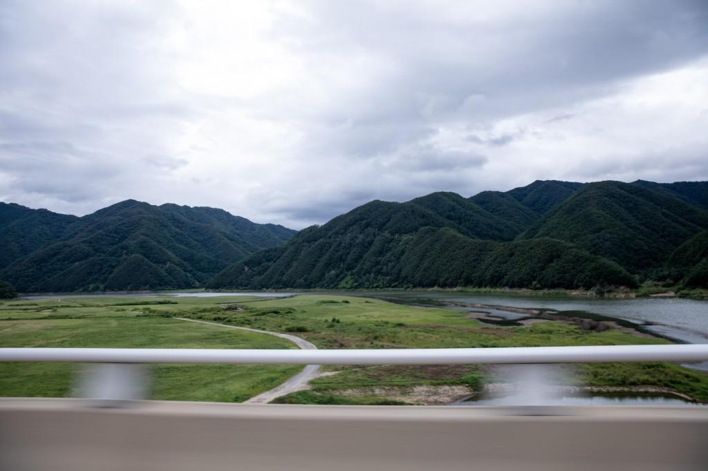 ソウルへ帰る高速道路から