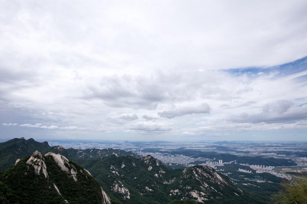 北漢山 登山道からの眺め3