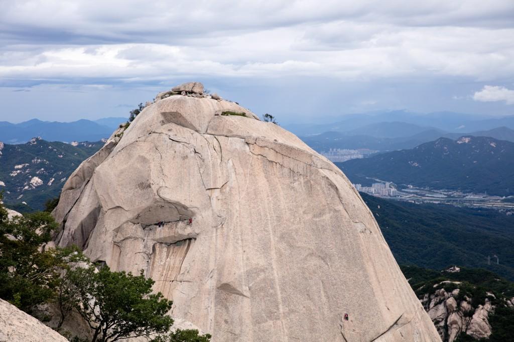 北漢山 頂上からの眺め2