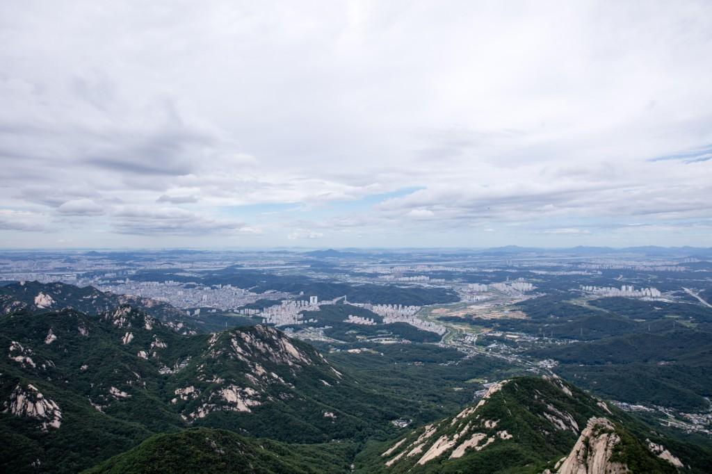 北漢山 頂上からの眺め3